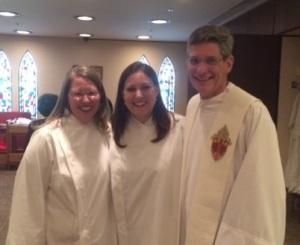 Beth, Christina, Fr. Ken